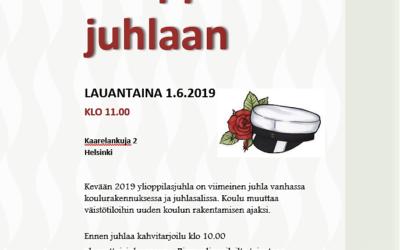 Suomalais-venäläisen koulun senioriopettaja tai kevään 2019 riemuylioppilas! Kut…