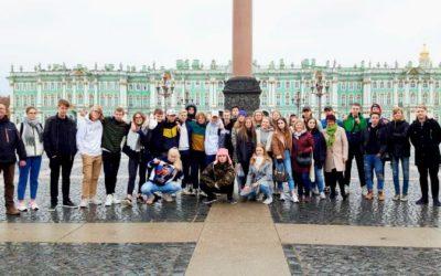Terveisiä Pietarista! Lukion ensimmäisen vuosikurssin opiskelijat ovat opintomat…